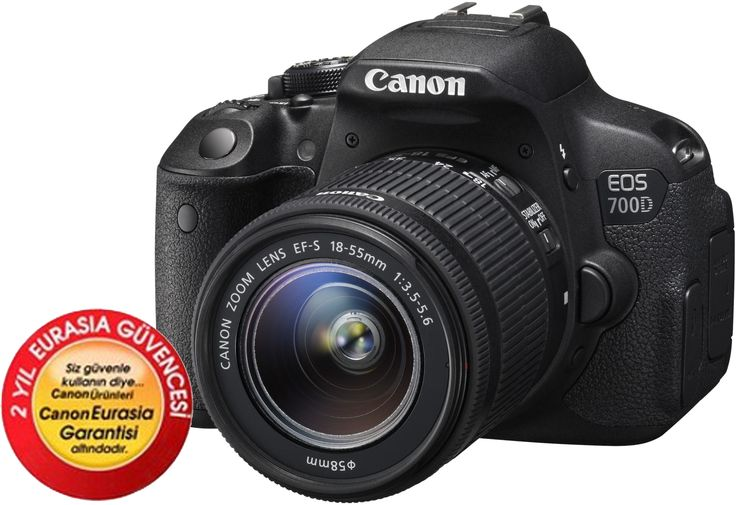 Outlet Canon EOS 700D 18-55mm DC Dijital SLR Fotoğraf Makinesi