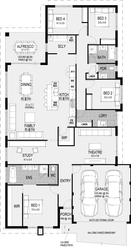 The Ohio floorplan