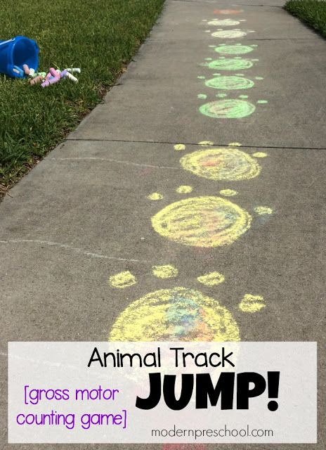 Outdoor Gross Motor Animal Track Game
