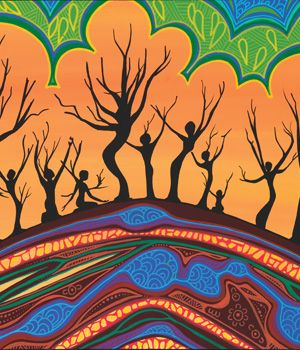 'Dhumba: Trees' - Useful Gifts by TEAR Australia: TEAR's Indigenous Support Program. Support TEAR Australia's partnership with Indigenous communities in Australia. ('Trees' theme).