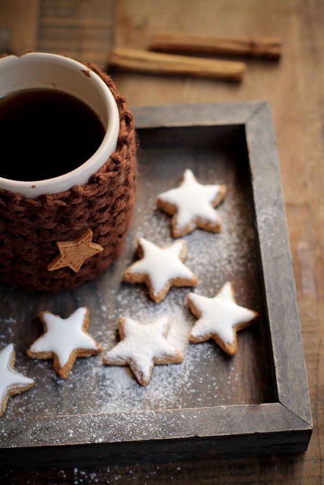 ✯ Wish Upon the Stars ✯  cocoa and star cookies