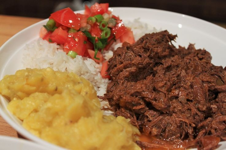 Spicy Beef Ragu with Mashed Plantains