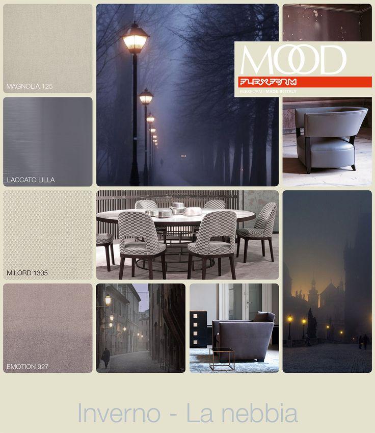 FLEXFORM MOOD | WINTER - FOG #INSPIRATION #colour #materials