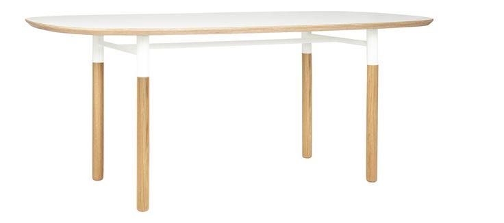 OVALE Tables de salle à manger Blanc Bois