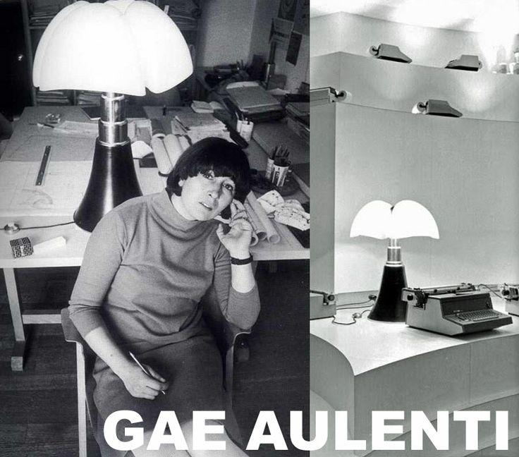 ae Aulenti la celebre architetto e designer italiana e la sua lampada Pipistrello.