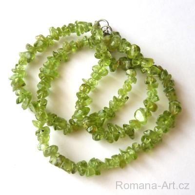 Náhrdelník - olivín (peridot)