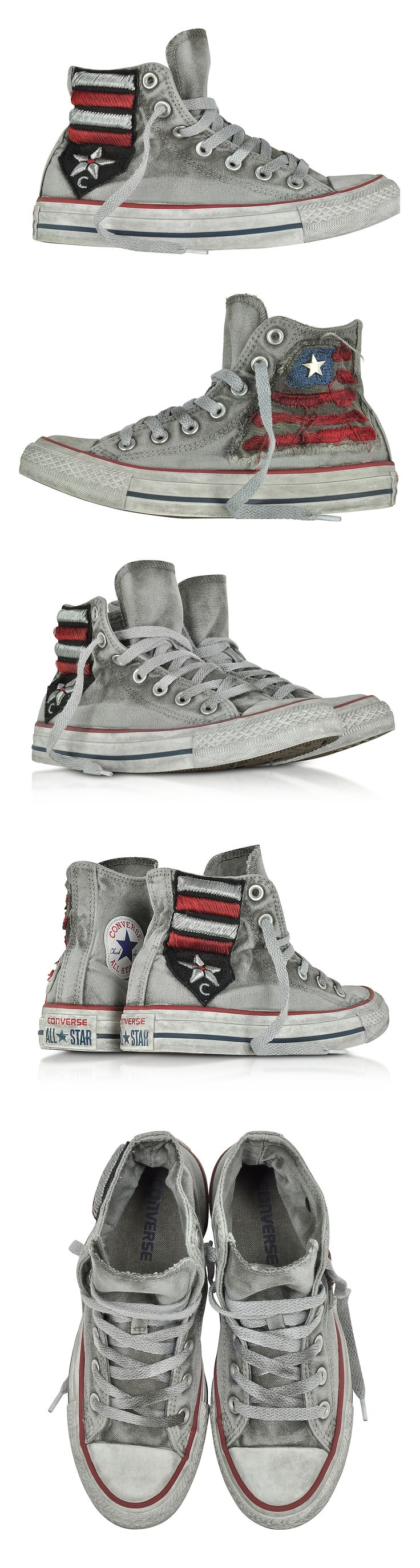 Converse Limited Edition Chuck Taylor All Star High Vintage Flag Patchwork Canvas LTD Unisex Sneakers