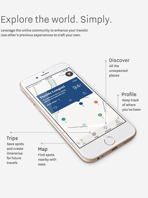 The Pulse travel app on Behance