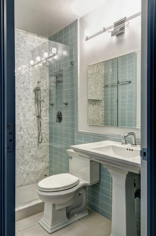 small bathroom design. See more. Contemporary 3/4 Bathroom - Found on  Zillow Digs