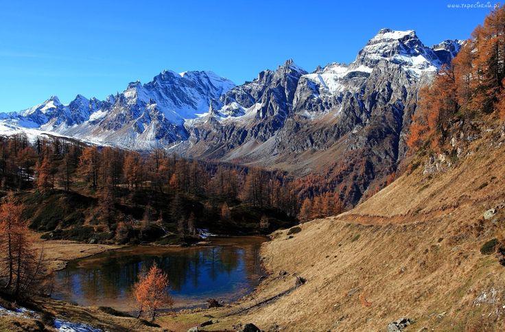 Góry, Drzewa, Jezioro
