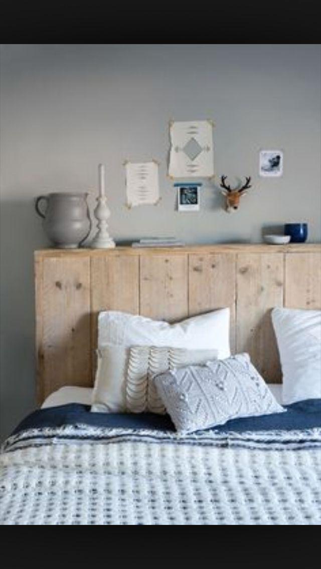 Steigerhout hoofdbord bed