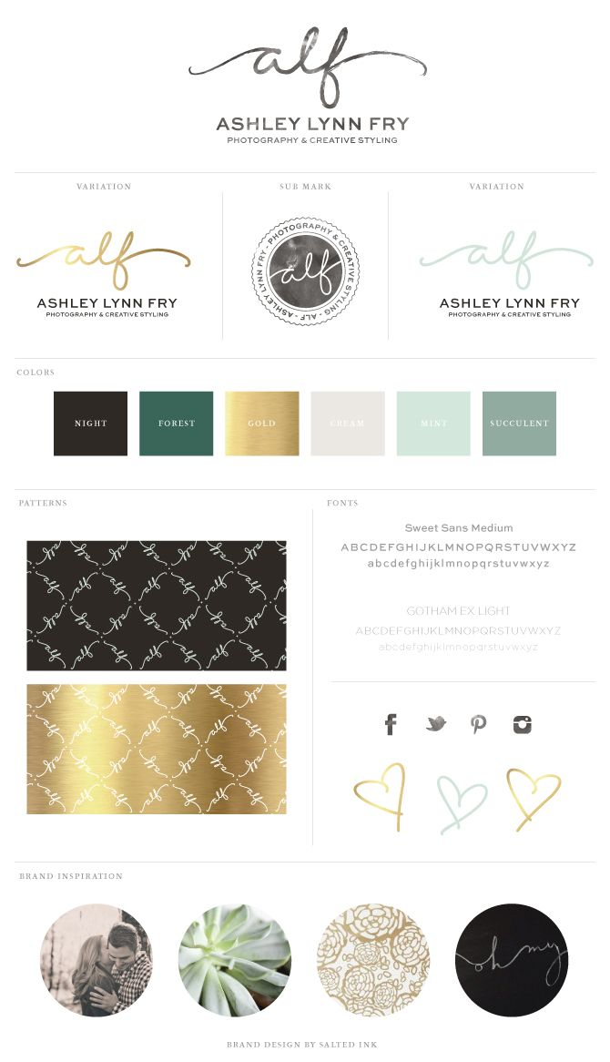 New Brand Launch: Ashley Lynn Fry Photography & Creative Styling | by Salted Ink | www.saltedink.com | #logo #brand #brandboard