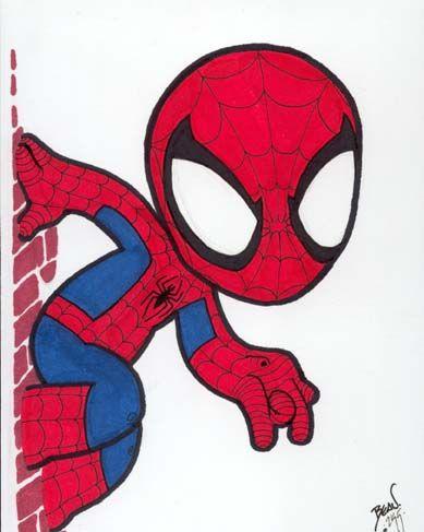 Divertidas Imágenes de Spiderman Chibi.