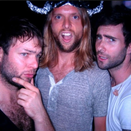 Adam Levine, Mickey Madden and James Valentine