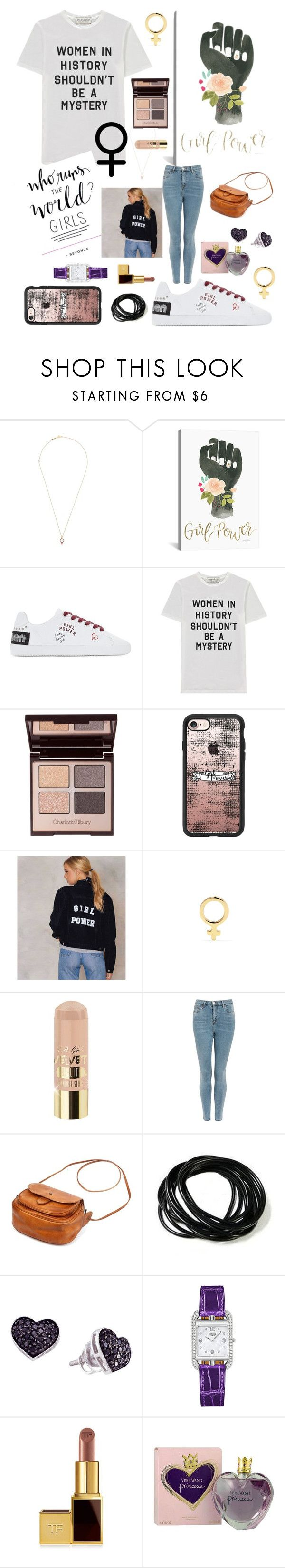 """""""Girl Power"""" by mwirls on Polyvore featuring Alison Lou, iCanvas, Être Cécile, Charlotte Tilbury, Casetify, L.A. Girl, Topshop, Hermès, Tom Ford and Vera Wang"""