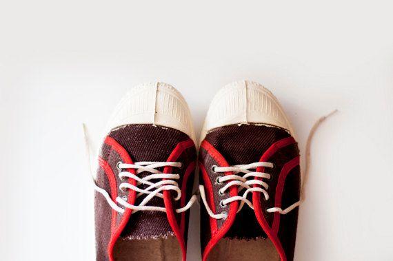Vintage Soviet Sneakers  Unisex Adult by CuteOldThings on Etsy, $36.00