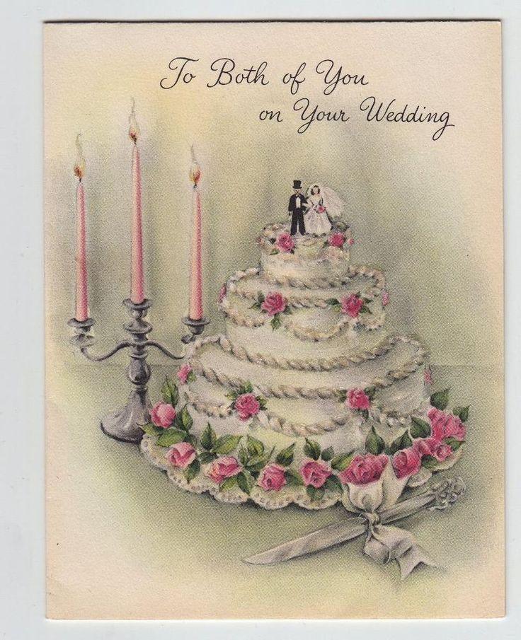 Pin On Wedding Anniversary 2020: Vintage Glittered Wedding Cake Hallmark Greeting Card