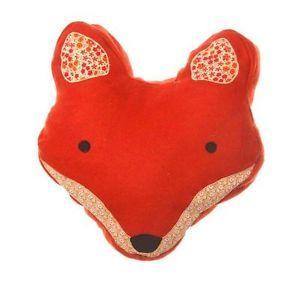 Sass Belle Paddy FOX Head Cushion Patchwork Brown | eBay