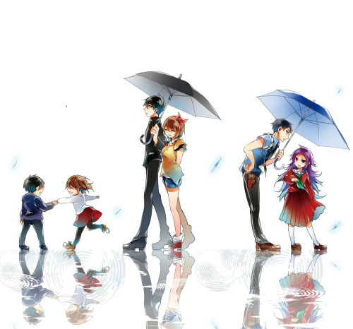 Forest of Drizzling Rain Fanart Shiori, Suga, Sakuma and Officer Mochizuki