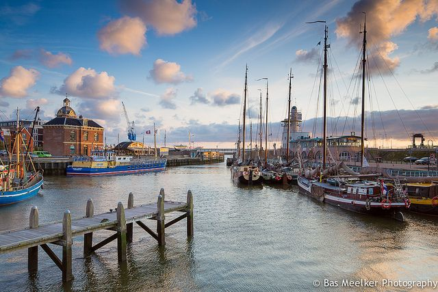 Harbor skies - Harlingen, The Netherlands by Bas Meelker, via Flickr