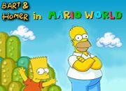 Bart and Homer in Mario World   juegos de mario bros - jugar online