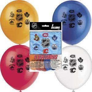 National hockey league Balloons (8/pkg)