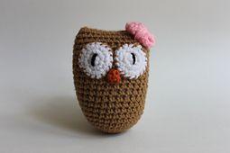 Sleepy Owl Mask - AllFreeCrochet.com - Free Crochet