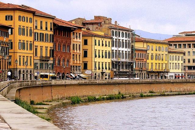 Lungarno, Pisa, Italy