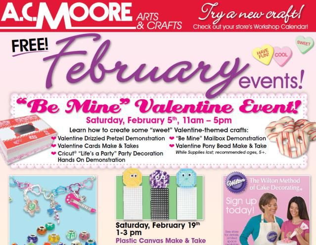 Free A.C. Moore Events for Kids and Adults