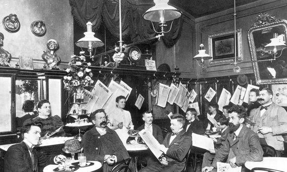 das Wiener Kaffeehaus im Jahr 1910