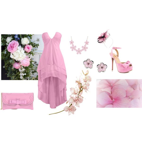 """Romantic pink flowers"" by balsamoirene on Polyvore"