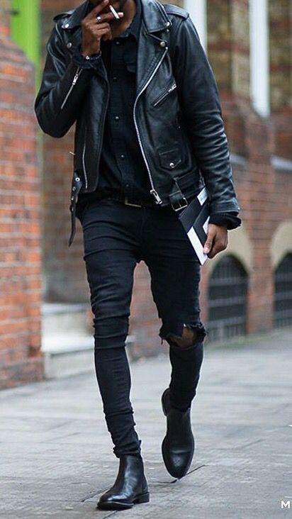 Perfecto style leather jacket Ropa de moda hombre Ropa