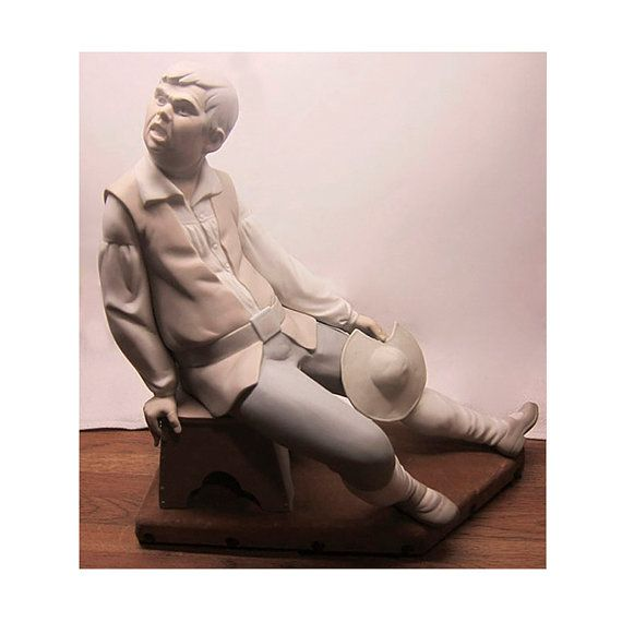 Lladro RARE & Retired 1992 porcelain figurine of Sancho # 1031/ Spanish vintage sculpture / Hand painted porcelain