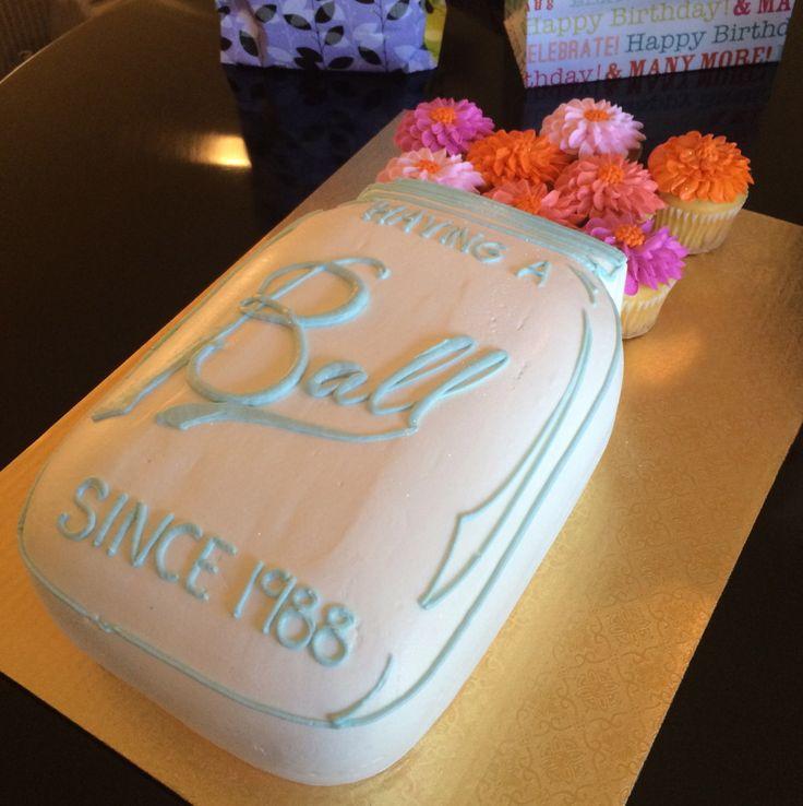 mason jar birthday cake