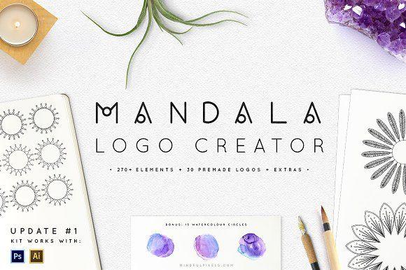 Mandala Logo Creator by Mindful Pixels on @creativemarket