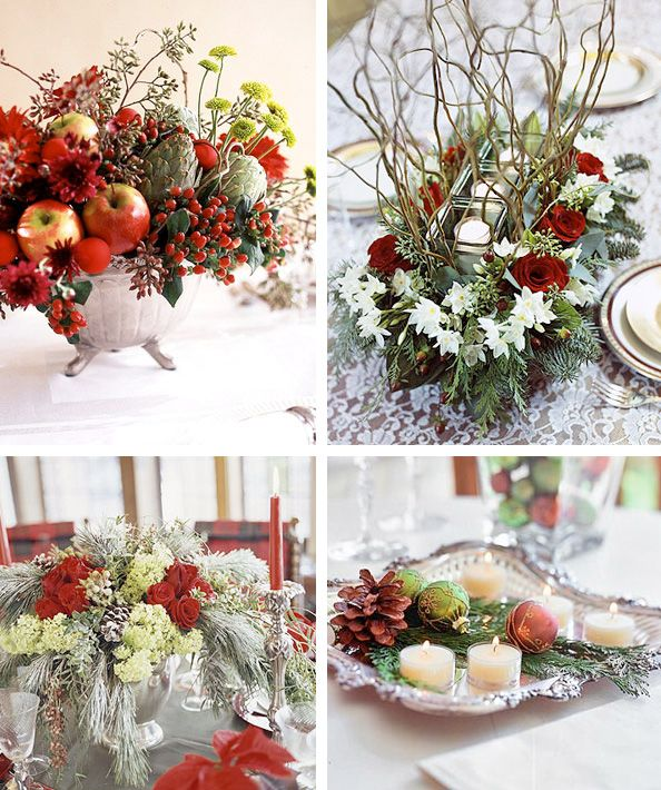 Centerpiece overload... http://www.digsdigs.com/50-great-easy-christmas-centerpiece-ideas/