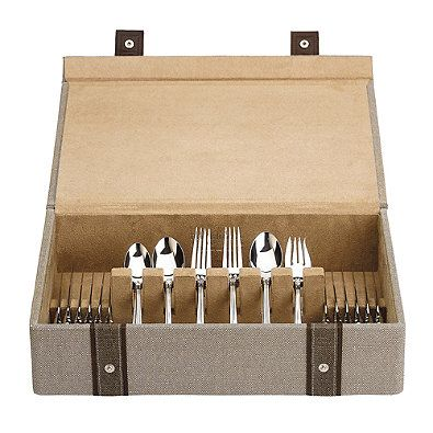 Reed & Barton Natural Instinct Woven Flatware Chest in Taupe