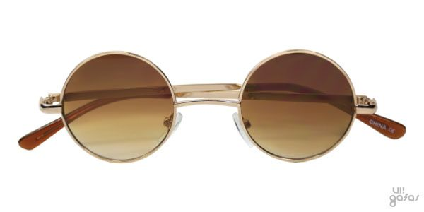 Óculos De Sol Redondo Mini Pequeno Em Metal Estilo Ozzy Osbourne || Ui! Gafas