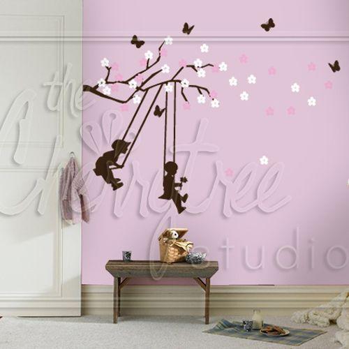 Springtime Branch with Swinging Kiddies