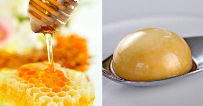 Honig und Eigelb-Mixtur als Maske gegen strapaziertes Haar