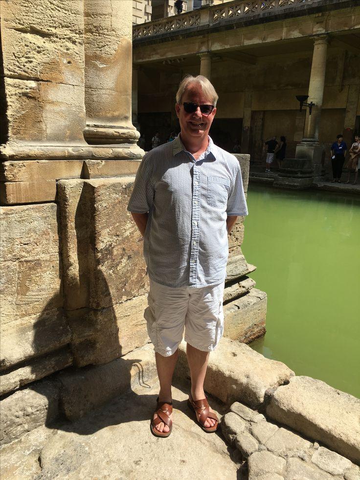Michael at the baths... #bath #romanbaths