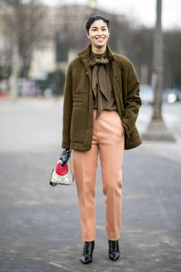 Caroline Issa on the streets of Paris for the couture F/W 2016 shows.