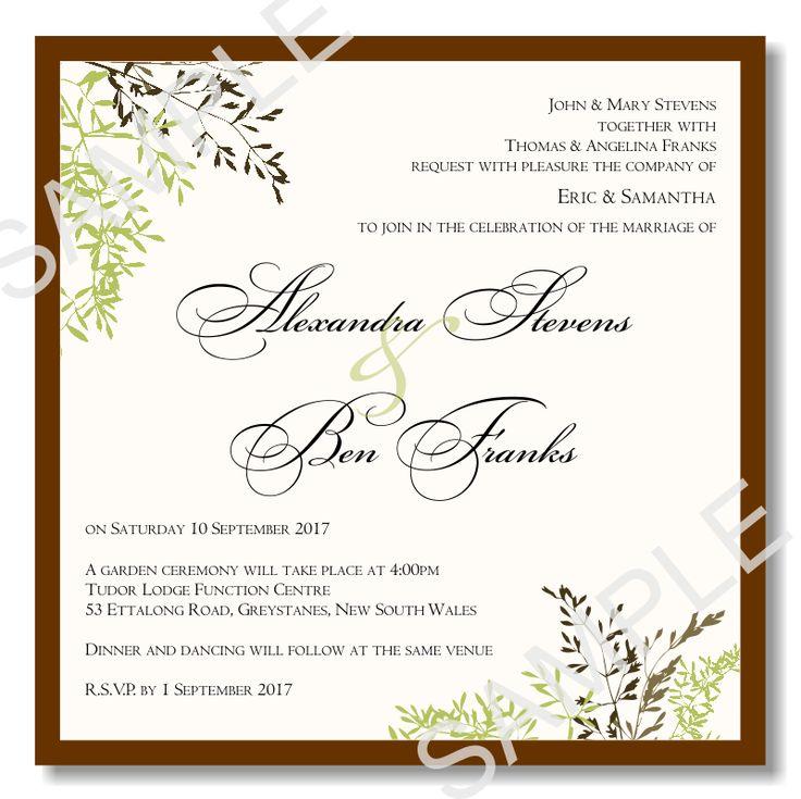 25 best ideas about Free wedding invitation templates on – Formal Invitation Template Free