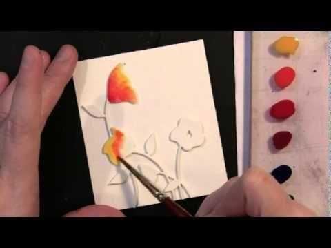 VIDEO TUTORIAL featuring Penny Black Creative Dies: Dimensional Watercolor with Dies