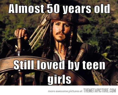 Johnny Depp must be doing something good…