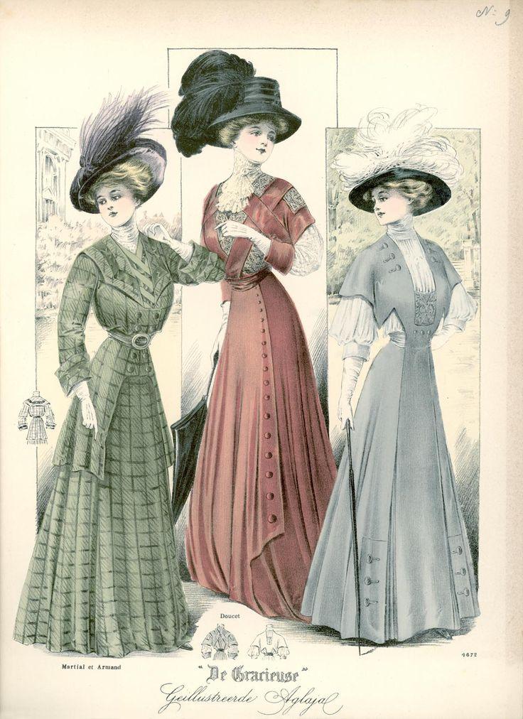 [De Gracieuse] Voorjaars-wandeltoiletten (May 1908)