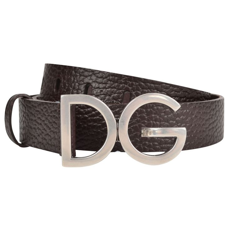 FOR THE MAN IN YOUR LIFE . . . Dolce and Gabbana   Grain Leather Logo Belt