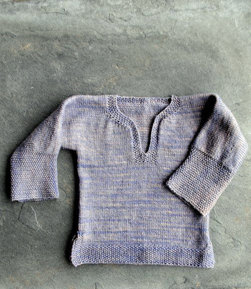 "The Easy Baby Cardigan from Joelle's More Last-Minute Kitted Gifts has become a Purl Soho classic... but it wasn't the original! Before she knit up that worsted weight cardigan, Joelle first conceived of a lightweight, all-season pullover. At 7 stitches to the inch, it wasn't exactly a ""last minute knitted gift"" and so it evolved; but Joelle never forgot the adorable prototype she had decided to shelve!  The inspiration behind both sweaters was always Joelle's intrigue with an over-the-top…"