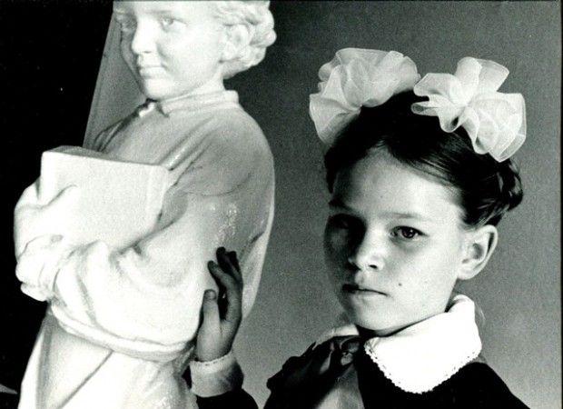 URSS 1989 Scolara con statua di Lenin bambino, Letizia Battaglia