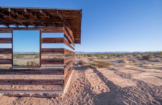 transparent house installation